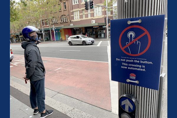 Hands-free pedestrian crossings by Sydney hospitals