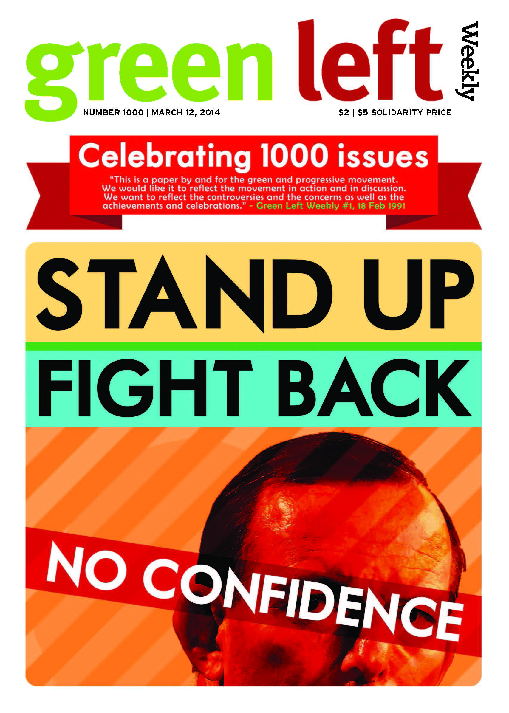 Green Left Weekly clocks up 1000 issues