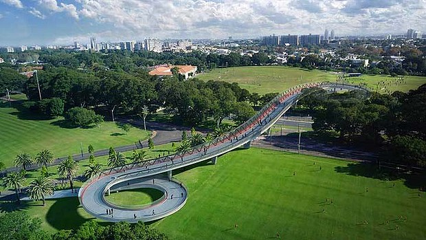 New pedestrian bridge for Moore Park