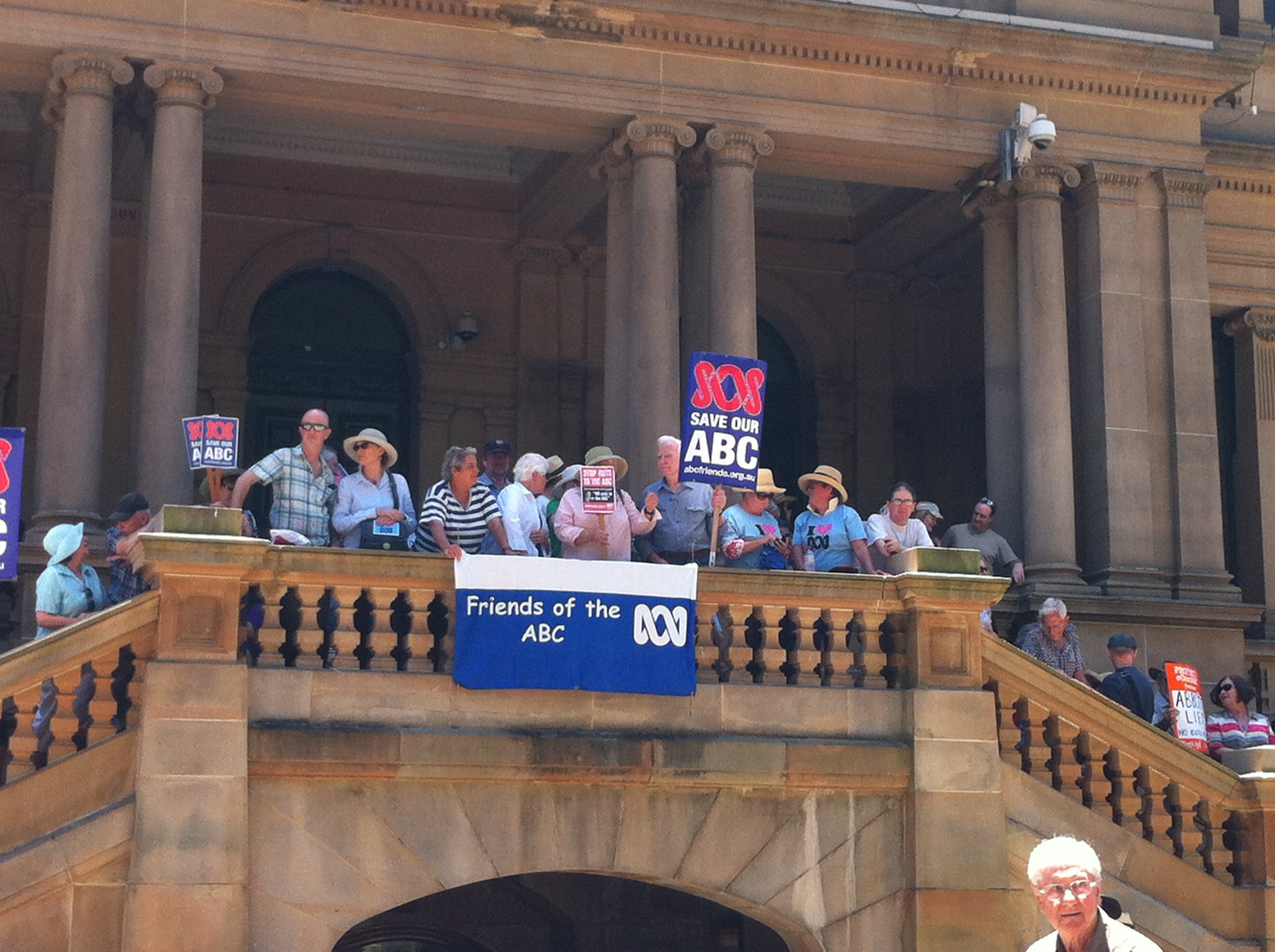Hundreds rally to save the unique voice of public broadcasters