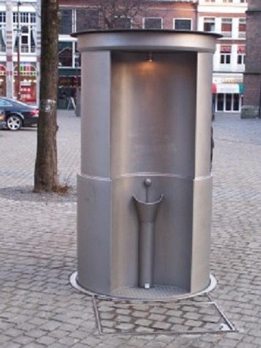 A retractable pissoir in The Hague. Source: Wikicommons