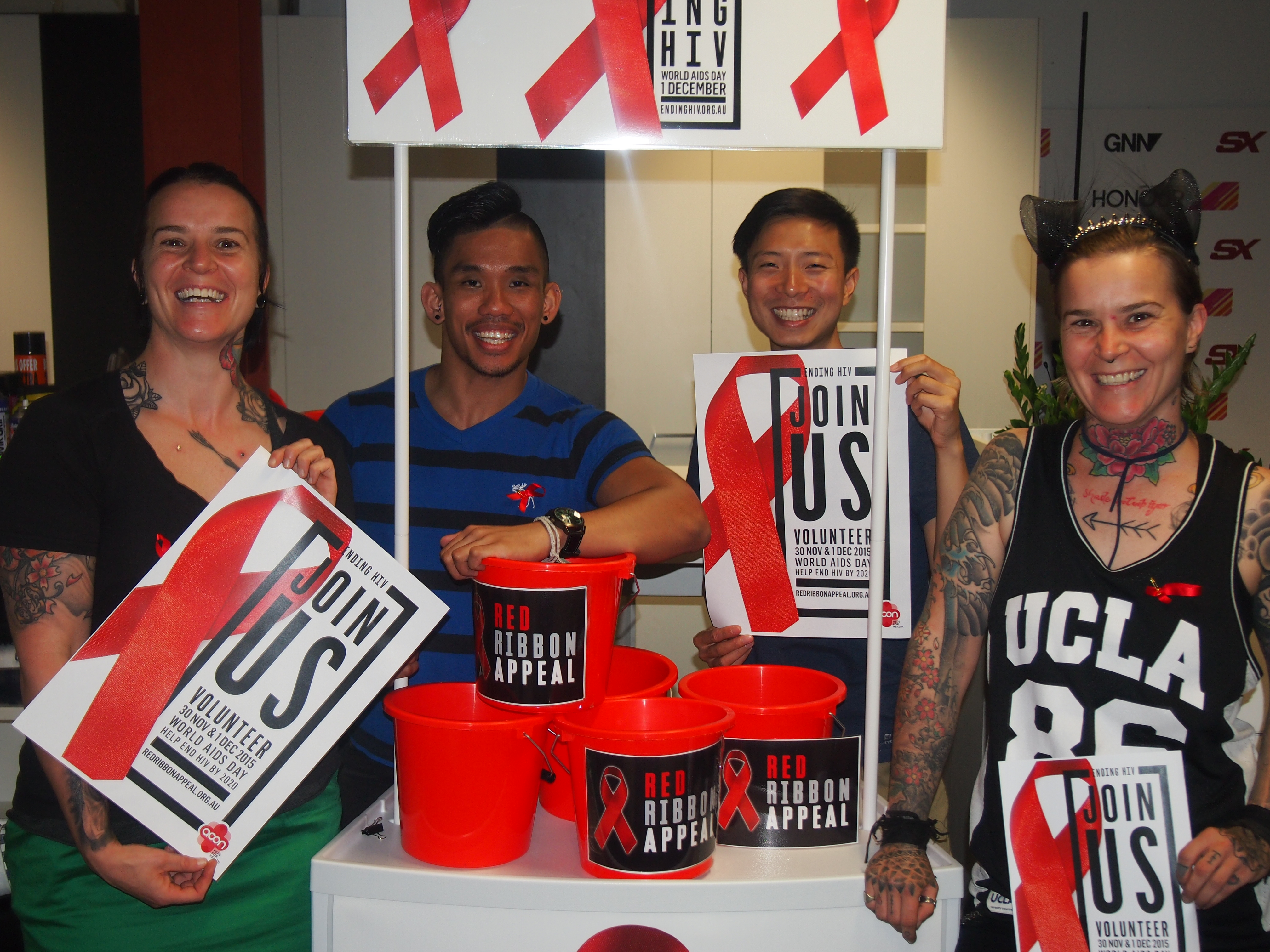 Charlie Sheen brings community together at World AIDS Day