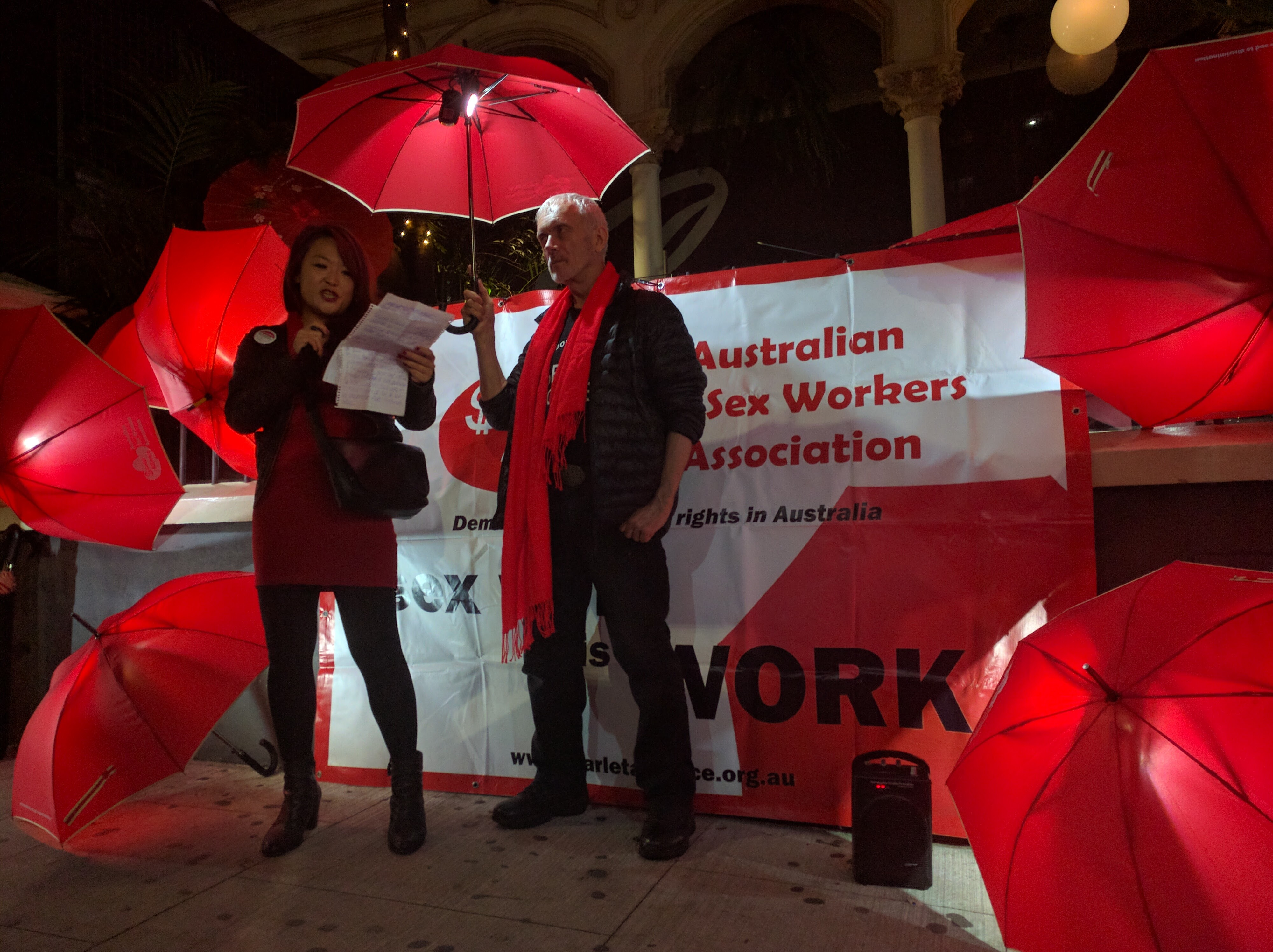 Sex workers rally for equal rights on International Whores Day