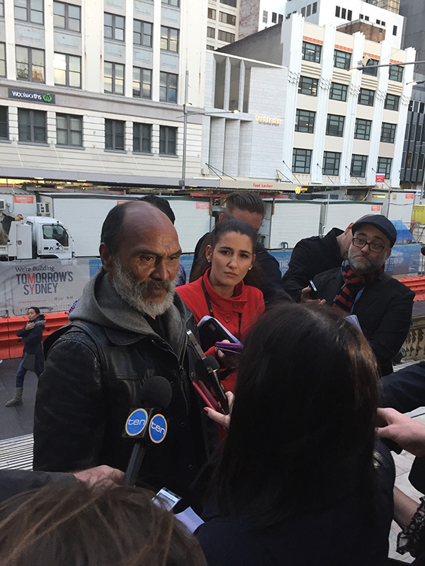 Homeless stand their ground at Martin Place