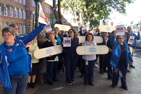 Hospital workers' safety strike