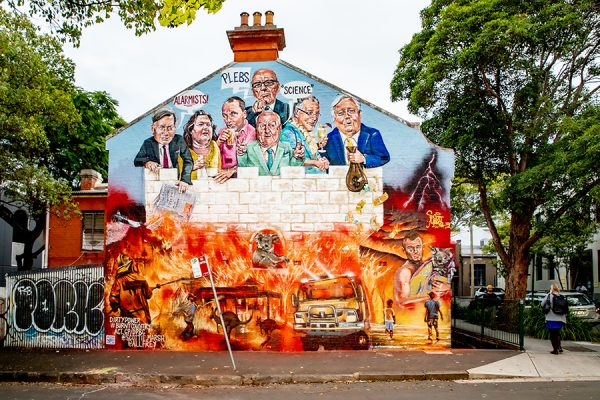 Marsh's new mural mocks the coal-ition