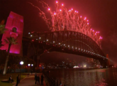 Deserted Sydney foreshore welcomes new year