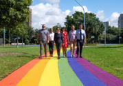 Prince Alfred Park's rainbow footpath unveiled