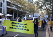 """""""Save our homes"""": Protesters call on parliament to protect public housing"""