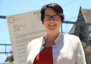 Penny Sharpe steps down from Labor front bench over disease testing bill